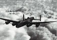 BOMBER COMMAND In Person Signed 12x8 Photo WW2 AVRO LANCASTER COA