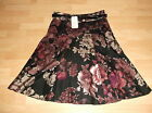 Monsoon BLACK Purple Lilac FLORAL 50's flare PARTY wedding SKIRT 14 UK £55 bnwt