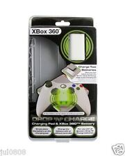NEW BOXED EXSPECT DROP N CHARGE X BOX 360 CHARGING PAD & X BOX 360 BATTERY