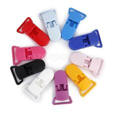 10 Multi Colored KAM Plastic Baby Dummy Clips Pacifier Soothers Holder 20mm