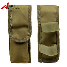 Tactical AEG External Universal Large Battery Pouch Holster Bag Pack Airsoft Tan
