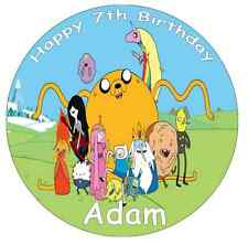 """Adventure Time Personalised Cake Topper Edible Wafer Paper 7.5"""""""