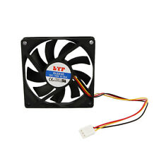 New 3 Pins Black 80mm Chassis Crystal Fan Silent fan cooling system PC Black