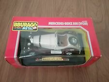 Burago Die-Cast Metal 1/24 Cream & Brown '28 Mercedes-Benz SSK In Box From Italy