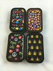 Assorted Design Hippie Leaf Peace Stash Tin Box Tobacco Cigarette Smoke