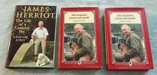 James Herriot All Creatures Great and Small The Life of a Country Vet (Lot of 3)