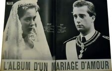 Coupure de presse Clipping 1959  - Mariage Prince Albert de Liege . 23 Pages