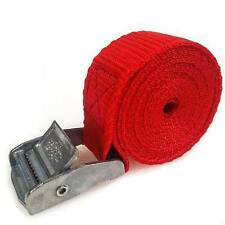6 Buckled Straps 25mm Cam Buckle 1.5 meters Long Heavy Duty Load Securing Red