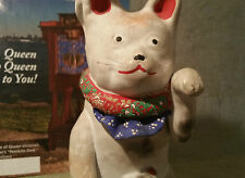 Maneki antique japanese cat figurine neko statue vtg store display art pottery