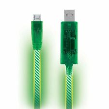 Green LED Light Micro USB Charger Data Sync Cable for Samsung Galaxy HTC Android