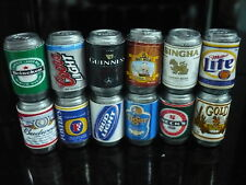 12 Mix Beers Cans Packs Dollhouse Miniature Beverage Drink -2