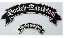 SET 2 PATCHES HARLEY DAVIDSON PARCHMENT GRANDE + SMALL CUSTOM CHOPPER BOBBER