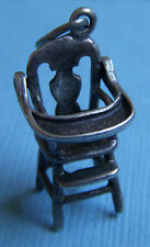 Vintage movable Beau high chair tray lifts sterling charm