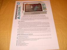 Boxford Brochure: A3HSRi CNC Router Specification Sheet - As Photo
