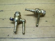 "Vintage NOS Brass 1/4"" Gas Tank Petcock Shut Off Valve Chopper Bobber Motorcycle"