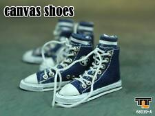 """TTL Model Toy 1:6 Scale Blue Canvas Man Shoes 68039-A Fit 12"""" Male Figure doll"""