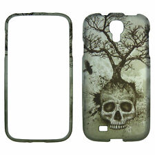 Night Skull Tree for Samsung Galaxy S 4  Rubberized Feel Case Cover