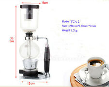 Siphon Coffee Pot Glass Coffee Equipment Vacuum Brew Stove Maker 2 Cups TCA-2