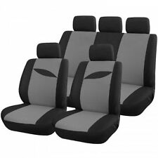 Housse protection pour siège de voiture bi couleur noir et gris (scenario)