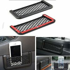 Fashion Black Auto Car Storage Mesh Resilient String Bag Holder Pocket Organizer