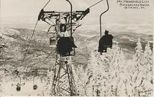 Ski Poster Chair Lift 1940's Smugglers Notch Mt Mansfield Stowe VT Vermont