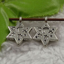 free ship 220 pieces tibet silver star charms 20x14mm #4239
