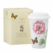 Lenox Butterfly Meadow Thermal Travel Mug, 12-Ounce New