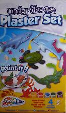 Bajo el mar hace su propia Yeso Set (Shark, Cocodrilo, Tortuga Marina & Dolphin)