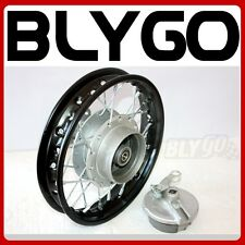"BLACK 2.50 - 10"" 1.4 X 10 Inch Back Drum Brake Hub Wheel Rim PIT Trail Dirt Bike"
