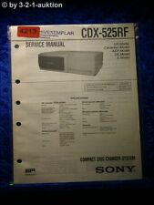 Sony Service Manual CDX 525RF CD Changer (#4213)