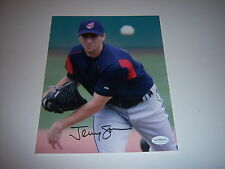 JEREMY SOWERS CLEVELAND INDIANS JSA/STAMP SIGNED 8X10 PHOTO