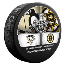2013 PITTSBURGH PENGUINS VS BOSTON BRUINS STANLEY CUP PLAYOFFS PUCK RARE!