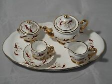Crown Windsor Fine Bone China Complete Miniature Tea Set & Tray