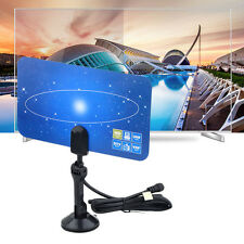 Digital Indoor VHF UHF Ultra Thin Flat TV Antenna for HDTV 1080p DTV HD Ready @
