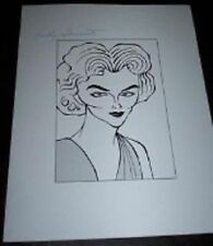 SALLY FORREST 40s-50s Actress, Son Of Sinbad Signed 8.5x11 Cartoon Autograph a
