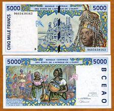 West African St.ates, Benin, 5000 (5,000) Francs, 1996, P-213B, UNC
