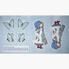 """Holly Hobbie Doll and Butterflies 24x44"""" Fabric Pillow Craft Panel"""
