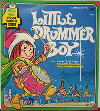 "Four Favorite Songs - Little Drummer Boy 1972 Peter Pan 7"" 45 RPM EP (VG+)"