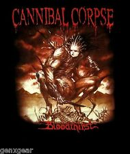 CANNIBAL CORPSE cd cvr BLOODTHIRST Official Black SHIRT XL New 1988 death metal