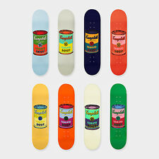 Andy Warhol Skateboard Art Deck Set Campbell Soup Cans