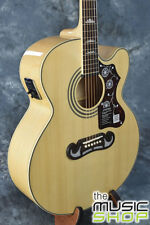 Epiphone EJ200SCE J200 Style Acoustic Electric Jumbo Guitar + Case - Natural 673