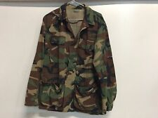 USGI US MILITARY WOODLAND BDU TOP COAT JACKET WARM WEATHER SIZE MEDIUM / REGULAR