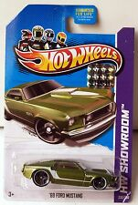 HOT WHEELS 2013 HW SHOWROOM 69 FORD MUSTANG GREEN FACTORY SEALED