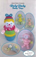 Roly Poly Baby Toys Annie Potter Crochet Patterns Cat Clown Dog Boy Girl NEW