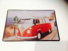 VOLKSWAGEN CAMPER VAN Bug/Beatle GARAGE VW Wall Decor Vintage Sign Tin Plaque