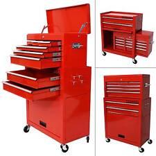 Chariot à outils - Servante d'atelier rouge - coffre malle rangement amovible