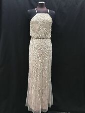 ADRIANNA PAPELL GOWN/MOTHER OF BRIDE DRESS/SIZE 8/RETAIL$340/SHELL/NEW W TAG