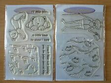 Personal Impressions Clear Stamps x 2 Sets - Everyday Bears Miss You & Frog