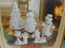 Grandeur Noel Collector's Edition Year 2000 Porcelain Snowman Family Holiday