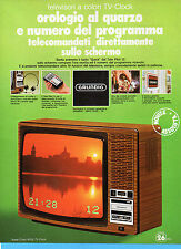(AM) EPOCA975-PUBBLICITA'/ADVERTISING-1975-GRUNDIG -SUPER COLOR 6025 TV CLOCK